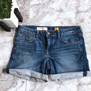 Anthropologie • Pilcro Stet Roll Up Jean Shorts